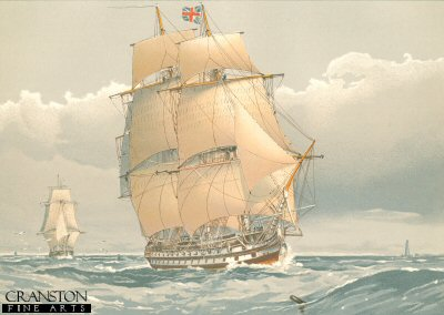 A 74 Gun Ship of the Line About 1794 by W Fred Mitchell (P)