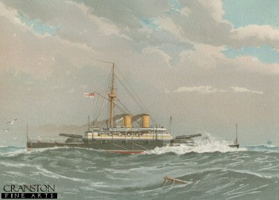 HMS Rodney by W Fred Mitchell. (P)