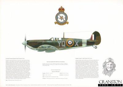 Supermarine Spitfire MKVb W3458 YQ-X. by M A Kinnear.