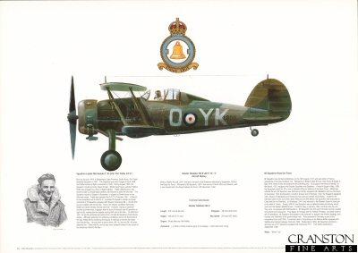 Gloster Gladiator Mk II L8011 YK-O. by M A Kinnear.