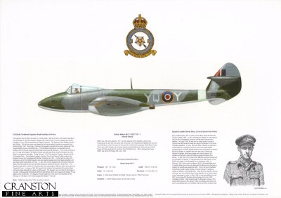 Gloster Meteor Mk F.1 EE227 YQ-Y. by M A Kinnear.