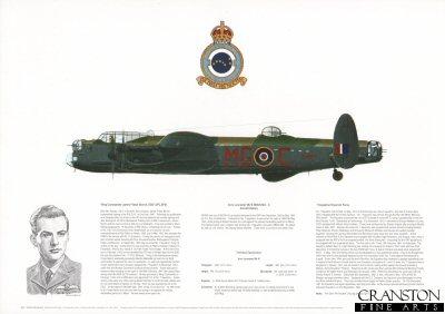 Avro Lancaster Mk III ND845 MG-C. by M A Kinnear.