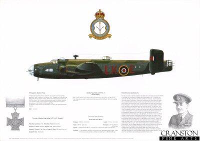 Handley Page Halifax LK797 LK-E. by M A Kinnear.