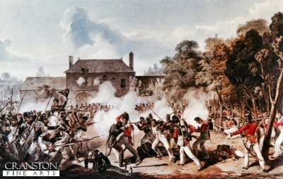Waterloo, Defence of Hougoumont by Dennis Dighton.
