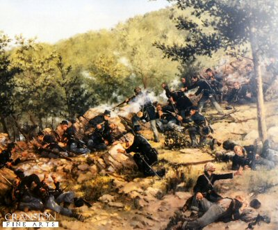 The Defence of the Little Round Top by Keith Rocco.