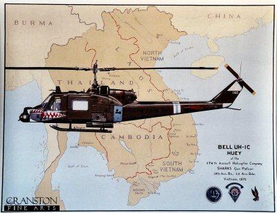 Bell UH-ie Huey by Larry Capadura.