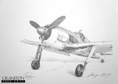 Fw190A-4, Winter 1944 by Ivan Berryman. (P)