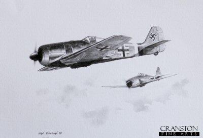 Willi Reschkes Fw190A8 of III./JG301 during October 1944 by Ivan Berryman. (P)