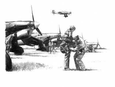 Stuka Ju87 - Preparing for the Day by Ivan Berryman.