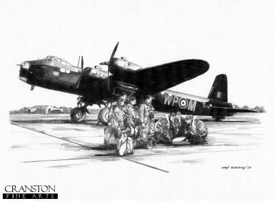Preparing To Go - Crew of a Short Stirling by Ivan Berryman.