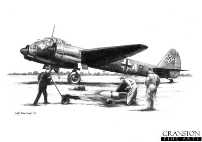 Ju88A-4 of KG.30 by Ivan Berryman.