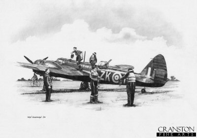 Ready for the Off - Blenheim of No.25 Sqn by Ivan Berryman.