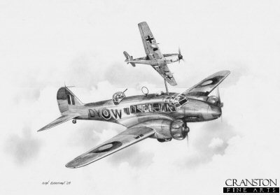 Coastal Command - Avro Anson Mk.I by Ivan Berryman.