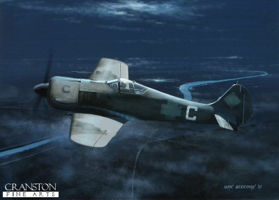 Focke-Wulf Fw190A-5/U8 by Ivan Berryman. (B) - AviationPrints.co.uk