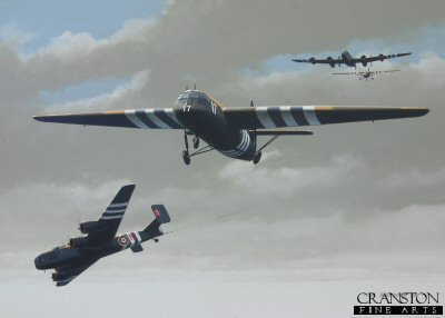 D-Day Invasion : Tribute to the Glider Troops by Ivan Berryman. (GS)