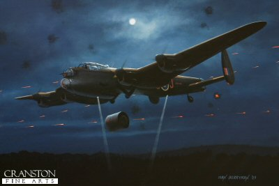 B0314PC. The One That Broke The Dam by Ivan Berryman. <p> Amid a hail of defensive fire, Flt Lt D J H Maltby holds Lancaster ED906/G AJ-J steady for his bomb aimer John Fort to perfectly choose his moment to release the Upkeep Bomb that would ultimately breach and destroy the Mohne Dam during the famous Dambuster raids on the Ruhr on the night of 16th / 17th May 1943. <b><p>Collector&#39;s Postcard - Restricted Initial Print Run of 100 cards.<p>Postcard size 6 inches x 4 inches (15cm x 10cm)