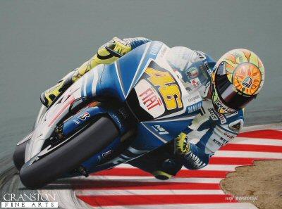 Valentino Rossi by Ivan Berryman.