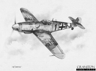 Bf109G of Hans-Ekkehard Bob by Ivan Berryman.