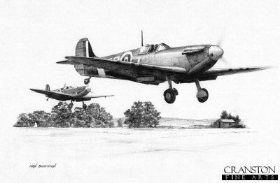 41 Squadron Spitfires by Ivan Berryman.