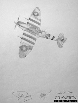 D-Day Spitfire - Johnnie Johnson by Graeme Lothian. (P)