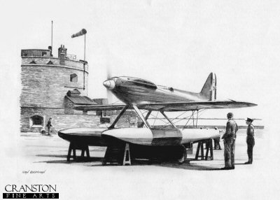 Supermarine S6.B at Calshot, 1931 by Ivan Berryman.