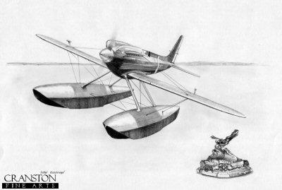 Supermarine S6.B - Schneider Trophy by Ivan Berryman. (P)
