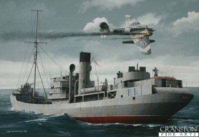 Tribute to the Royal Navy Trawler Crews - HMS Arab by Ivan Berryman.