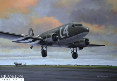 101st Airborne en route to Normandy by Ivan Berryman. (GS)