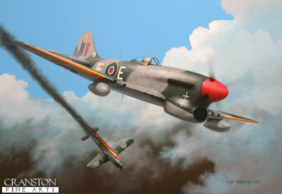 Tribute to Flt Lt Pierre Clostermann by Ivan Berryman. (APB)
