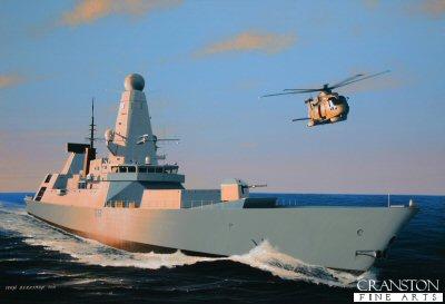 HMS Daring by Ivan Berryman. (GS)