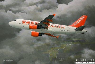 easyJet Airbus A319 by Ivan Berryman. (P)