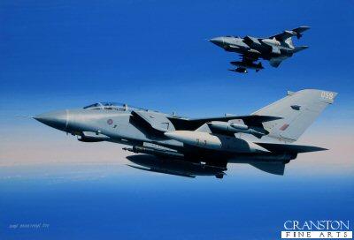Destination: Libya.  Tornado GR.4s of 9 Squadron by Ivan Berryman. (GS)