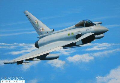 3 Squadron Typhoon, Operation ELLAMY, Libya 2011 by Ivan Berryman. (GS)