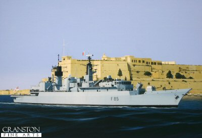 HMS Cumberland by Ivan Berryman.