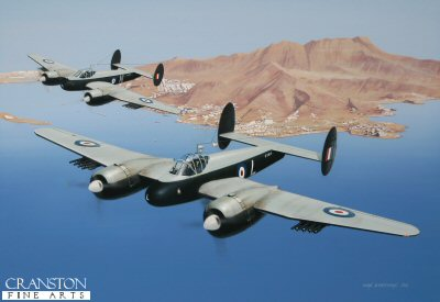 8 Sqn Bristol Brigands by Ivan Berryman. (GS)