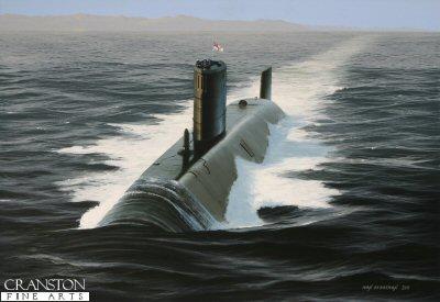 HMS Trafalgar by Ivan Berryman. (GS)