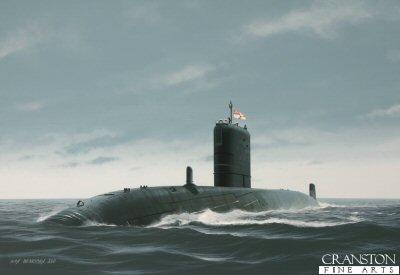 HMS Trenchant by Ivan Berryman.