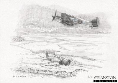 Burma - Arrival of 615 Squadron by Brian Bateman. (P)