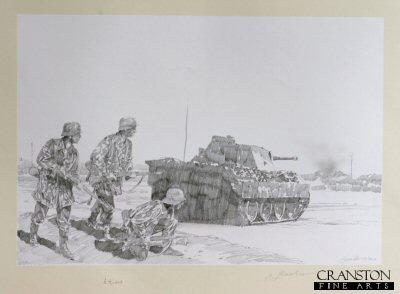 Pather Tank at the Danube Bridgehead by Jason Askew. (P)