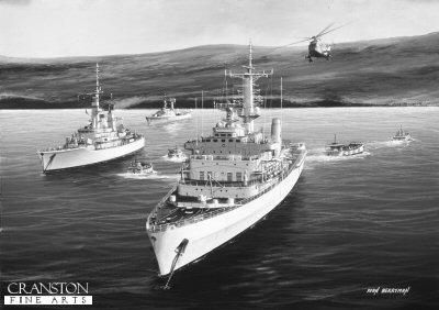 HMS Fearless by Ivan Berryman.