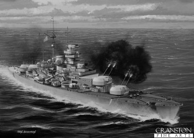 Bismarck Replies to HMS Hood by Ivan Berryman.