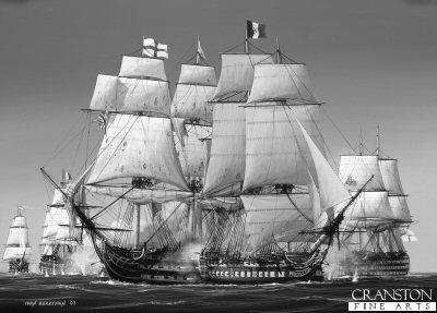 Trafalgar - The Destruction of the Bucentaure by Ivan Berryman.