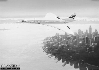 Concorde over Manhattan by Ivan Berryman.