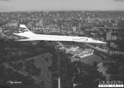 Concorde over London by Ivan Berryman.