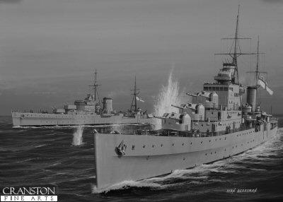 HMS Naiad by Ivan Berryman.