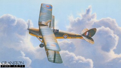 B14.  First Wings by Ivan Berryman. <p>First flown on 26th October 1931. The De Haviland DH82 Tiger Moth was to enjoy one of the longest and most distinguished careers in aviation history. Depicted here is an example of that variant employed by an elementary and reserve flying training school during the early part of World War Two.<b><p>Signed limited edition of 250 prints. <p> Image size 17 inches x 10 inches (43cm x 25cm)