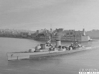 HMS Orion by Ivan Berryman. (AP)