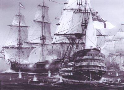 HMS Royal Sovereign by Ivan Berryman. (P)