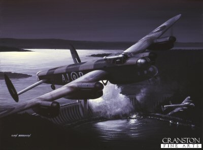 The Night They Broke the Dams - Operation Chastise by Ivan Berryman. (B)