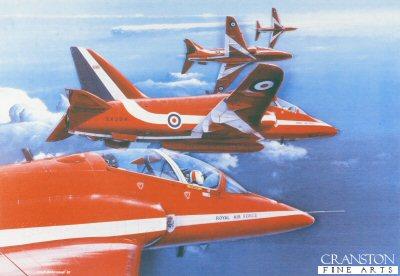 Red Arrows Break Left by Ivan Berryman.